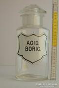 """Acid. Boric."" patikaüveg"