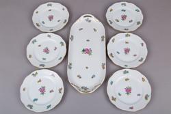 6 személyes Herendi Eton mintás süteményes készlet I.
