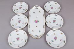 6 személyes Herendi Eton mintás süteményes készlet II.