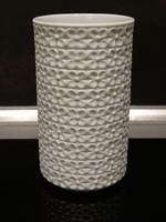 Hutschenreuther biskvit porcelán váza apró virágmintával