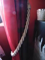Szépséges pezsgő színű függönykikötő párban