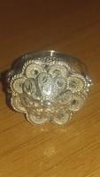 Antik filigrán ezüst gyűrű