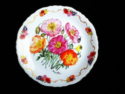 Romantikus angol falidísz, porcelán falitányér