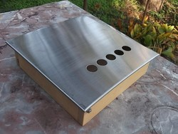 Új Kulcstartó szekrényke -fali ládika-doboz  króm-fa-ajándékba is