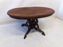 Antik biedermeier póklábú asztal