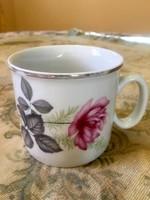 Antik ritka rózsás Zsolnay bögre, csésze