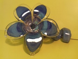 Muránói virág gyertyatartó