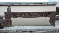 Nagyméretű, antik kínai faragás (1)!