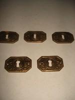 Bútor címke, öntött réz 3x5cm