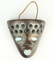 0P921 Iparművészeti kerámia szerecsen fali maszk