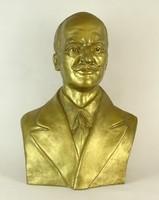 0P830 Istók János : 1959-ből Férfi mellszobor 55cm