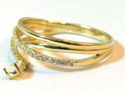 Női köves arany gyűrű(Kecs-Au69414)