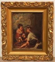 Magyar festő 1925-ből (lásd szignó) Murillo után olajfestménye GARANCIÁVAL !!!!!