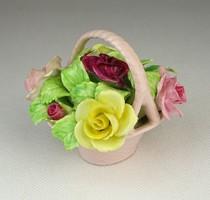 0P954 Régi Staffordshire angol porcelán virágkosár