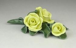 0P957 Ritka hibátlan Herendi porcelán rózsa