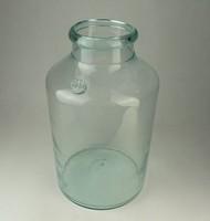 0P963 Antik 5 literes pecsétes zöld huta üveg