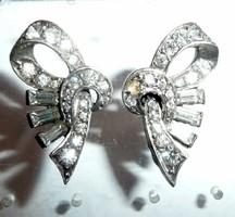 Antik ezüst masni formájú fülbevaló pár