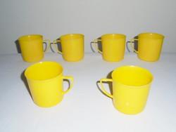 Retro műanyag pohár bögre csésze - GDR NDK Keletnémet gyártmány - 6 db