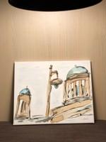 Esztergom Bazilika részlet Coffee ART 30x25