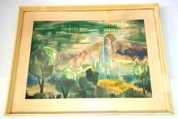 Somogyi István - Balatoni hegyoldal 1965 Képcsarnokos