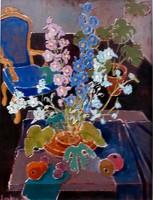Laky Ida ( 1921-2015): Virágok szobában 76.