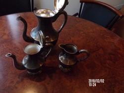 Ezüstözött alpakka kávékiöntők