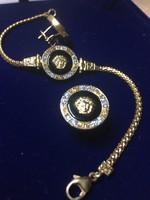 Versace arany karlánc és fülbevaló szett. Ajándéknak is! (14 k)