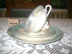 Régi porcelán reggeliző szett, készlet
