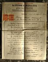 1934 - Számla - Kántor Tamás és Fia a koronás aranyérdemkereszt birtokosa - Kántor István aláírás