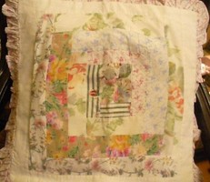 Szépséges patchwork párnahuzat