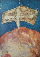 Németh Géza (1944 - ....): Templom. Olajfestmény.