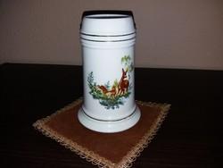 Hollóházi porcelán korsó