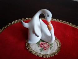 Hollóházi porcelán lúd pár
