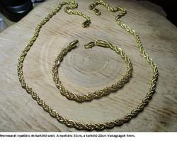 Csavart nemesacél nyaklánc és töltött arany (gold filled) karkötő szett