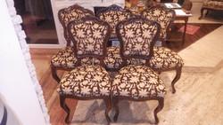 5 db neobarokk szék szép kárpittal jó állapotban