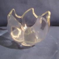 Üveg kínáló tál  A074