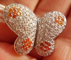 925 ezüst medál mandarin és víztiszta czirkóniákkal