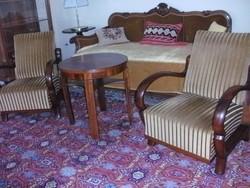 Felújított art deco 2 db fotel és asztal