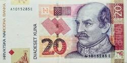Horvátország 20 kuna 2001 VF