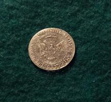 John és Robert F. Kennedy arany emlék érme 0,4 g., 15 mm.