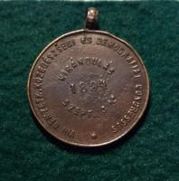 Közegészségügyi kongresszus. Kirándulás a Hunyadi János forráshoz 1894 . Bronz, 4,5 g. 23 mm.