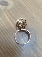 Régi kézműves Elis Kauppi design svéd ezüst gyűrű