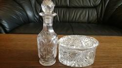 Kristály parfümös üveg és ékszertartó