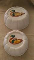 Mázas kerámi sütőformák 2 db