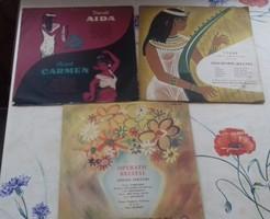 Opera Gramofon lemez együtt a 3