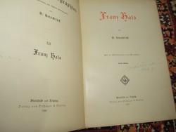 Márk Tivadar aláírásával 1896-os Frans Hals könyv