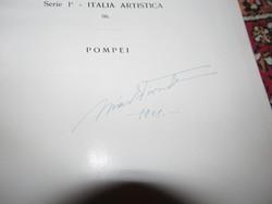 Márk Tivadar aláírásával 1929-es Pompei könyv