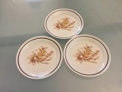 Hollóházi porcelán kistányér 3db