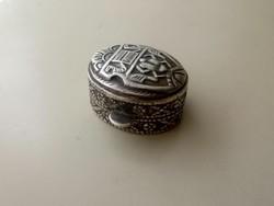 Ezüst Arab keleti dobozka, gyógyszeres, ereklyetartó 800