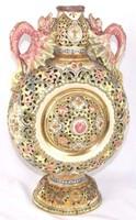 Csodálatos Fischer I (Zsolnay) váza 33 cm